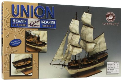 Wooden Ship Boat Kit Union Brigantine Kit  Constructo 1/100th scale 80616